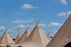 Tiendas de los indios norteamericanos Imagenes de archivo
