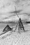 Tiendas de los indios norteamericanos de la madera de deriva Fotos de archivo libres de regalías