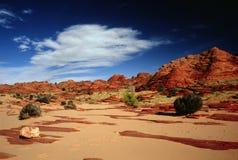 Tiendas de los indios norteamericanos de la piedra arenisca, motas del norte del coyote Foto de archivo libre de regalías