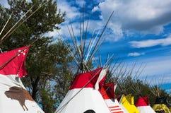 Tiendas de los indios norteamericanos indias Imágenes de archivo libres de regalías