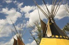 Tiendas de los indios norteamericanos indias Imagen de archivo libre de regalías