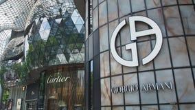 Tiendas de lujo de la marca Fotografía de archivo libre de regalías