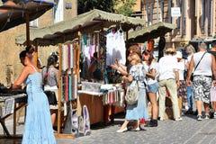 Tiendas de souvenirs de Rumania Fotos de archivo
