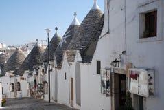 Tiendas de souvenirs en Alberobello Fotografía de archivo