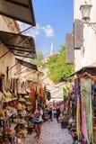 Tiendas del mercado de Mostar imagenes de archivo