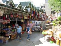 Tiendas del recuerdo en el parque de la opinión de las minas, Baguio, Filipinas Foto de archivo libre de regalías