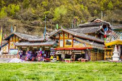 Tiendas del tibetano Imagen de archivo