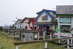 Tiendas en Homer Spit Alaska Fotografía de archivo