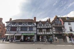 Tiendas en Stratford-sobre-Avon foto de archivo libre de regalías