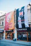 Tiendas footbal turcas de la fan imagen de archivo libre de regalías