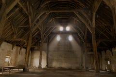 Tiendschuur van middeleeuws Vlaanderen stock foto