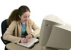 Tiener & Tablet 1 van de Grafiek Stock Foto