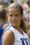 Tiener Cheerleader bij Spel Royalty-vrije Stock Afbeeldingen