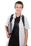 Tiener die aan school voorbereidingen treft Royalty-vrije Stock Afbeeldingen