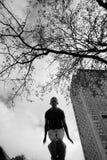 Tiener die het vrije lopen uitoefent stock fotografie