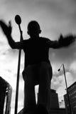 Tiener die het vrije lopen uitoefent Stock Foto's