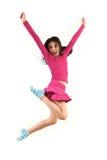Tiener die hoog springt Stock Afbeelding