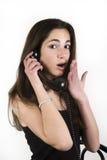 Tiener die op de telefoon spreken Stock Fotografie