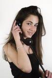 Tiener die op de telefoon spreken Stock Foto's