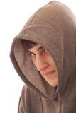 Tiener die overhemd met een kap draagt Royalty-vrije Stock Foto