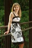 Tiener in een kleding Stock Foto's