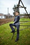 Tiener in het platteland Royalty-vrije Stock Afbeeldingen