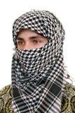 Tiener in kufiya Royalty-vrije Stock Afbeelding