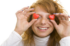 Tiener in liefde Royalty-vrije Stock Afbeelding