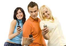 Tiener mededeling royalty-vrije stock afbeeldingen