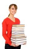 Tiener met boeken royalty-vrije stock foto's