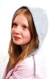 Tiener met bovenkant met een kap Royalty-vrije Stock Afbeelding