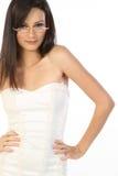 Tiener met bril Stock Foto