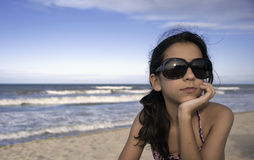 Tiener met de Glazen van de Zon Stock Fotografie