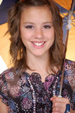 Tiener met een paraplu Royalty-vrije Stock Fotografie