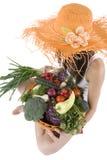 Tiener met groente Royalty-vrije Stock Afbeeldingen