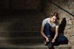 Tiener met Karakter in Girona, Spanje royalty-vrije stock foto