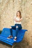 Tiener met Karakter in Girona, Spanje Stock Foto
