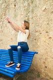 Tiener met Karakter in Girona, Spanje Stock Foto's