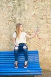 Tiener met Karakter in Girona, Spanje Royalty-vrije Stock Foto's