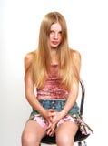 Tiener met lang haar Royalty-vrije Stock Fotografie