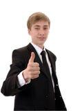Tiener met omhoog duim. Stock Foto's