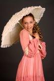 Tiener met Parasol Stock Afbeeldingen