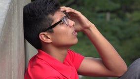 Tiener met Spanning en Bezorgdheid stock foto's