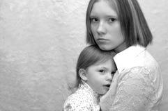 Tiener Moeder/Zusters stock foto's