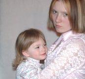 Tiener Moeder/Zusters stock foto