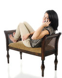 Tiener op Haar Telefoon Royalty-vrije Stock Foto's