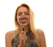 Tiener overdrijvende lippen Royalty-vrije Stock Foto