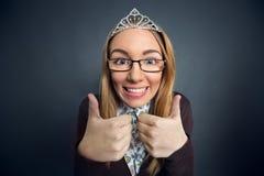 Tiener prom koningin stock afbeeldingen