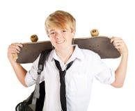 Tiener skateboarder stock fotografie