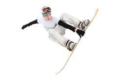 Tiener snowboarder royalty-vrije stock fotografie